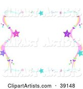Colorful Wavy Star Border