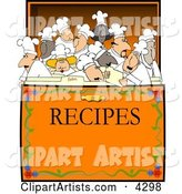 Concept: Chef's & Cooks in a Recipe Box Clipart
