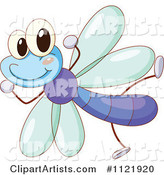 Cute Dragonfly Celebrating