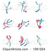 Digital Collage of Abstract Dancer Logos 1