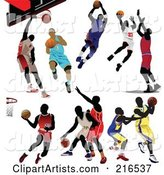 Digital Collage of Basketball Players in Different Poses