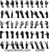 Digital Collage of Black and White Sign Language Hands