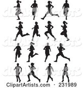 Digital Collage of Black and White Women Running