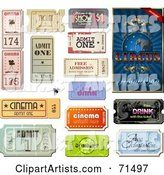 Digital Collage of Circus and Other Admission Tickets
