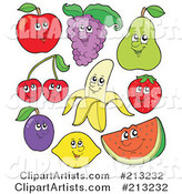 Digital Collage of Fruit Characters - 1