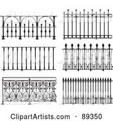 Digital Collage of Ornate Wrought Iron Fencing - Version 9