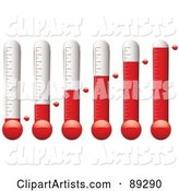 Digital Collage of Thermometers at Different Levels