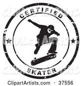 Distressed Black and White Certified Skater Seal