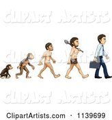 Evolution from Monkey to Business Man