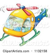 Excited Children in a Helicopter