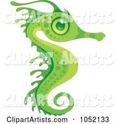 Exotic Green Seahorse