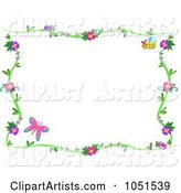 Floral Butterfly Frame - 1