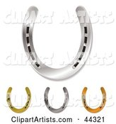 Four Assorted Horseshoes