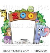 Frame of Zoo Animals