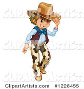 Friendly Cowboy Tipping His Hat