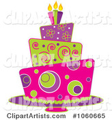Funky Three Tiered Cake - 1