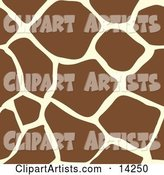 Giraffe Animal Print Background with Brown and Tan Patterns