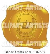 Golden Shiny Luxury Quality Wax Seal