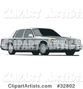 Gray Lincoln Town Car with Privacy Glass
