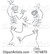 Gray Skeletons Dancing
