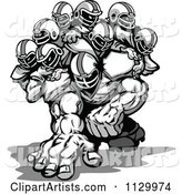 Grayscale Strong Football Team