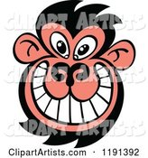 Grinning Ugly Monkey Face