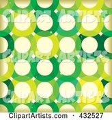 Grungy Green Circle Pattern Background