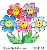 Happy Colorful Daisy Flowers 2