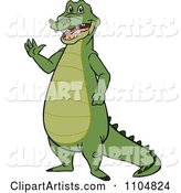 Happy Gator Standing and Waving