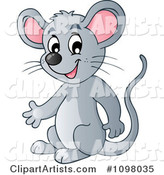 Happy Gray Mouse Presenting