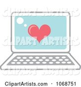 Heart and Laptop Icon