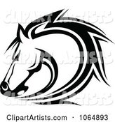Horse Head Logo in Black and White 7