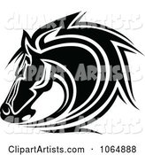 Horse Head Logo in Black and White 8