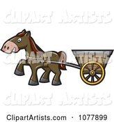 Horse Pulling a Cart