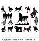 Horse Silhouettes 1