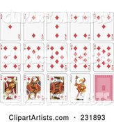 House of Diamond Playing Cards