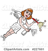 Housekeeper Fairy Flying, Spraying and Using a Duster