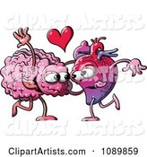 Human Heart Dancing with a Brain