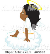 Innocent Indian Angel Girl Sitting on a Cloud