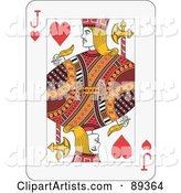 Jack of Hearts Playing Card Design