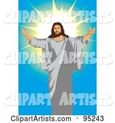 Jesus Holding His Arms Open - 1