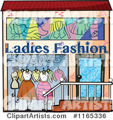 Ladies Fashion Building Facade Store Front