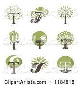 Letter T Tree Designs