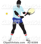 Male Tennis Athlete in Action - 1