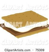 Marshmallow and Chocolate on Graham Crackers, Smores