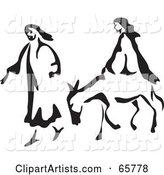 Mary and Joseph with a Mule