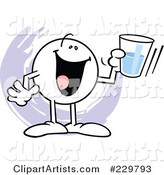 Moodie Character Holding a Glass Half Full