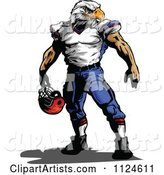 Muscular Bald Eagle Headed Football Player