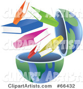 Open Globe with Books