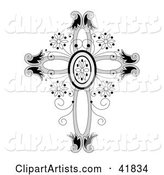 Ornate Floral Crucifix